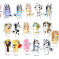 Bluey and Friends Edible Wafer Cupcake Toppers