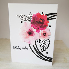 Magenta Flowers, Birthday Wishes, Birthday Card