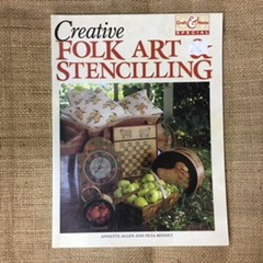 Book - Folk Art & Stencilling by Annette Allen and Peta Bennet