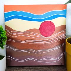 Minimalist Artwork Painting 'Desert Sun's on Canvas