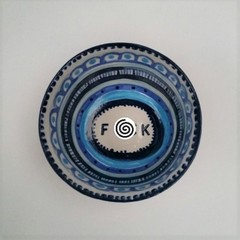 F*ck bowl ,unique gift, f*ck, clay hand blue painted pattern