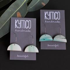 River Gum Collection earrings - hoop dangles