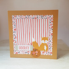 CLEARANCE SALE Hooray, Birthday Card, Girls Woodland themed Card