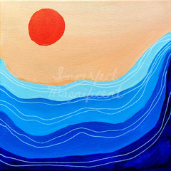 Printable Artwork 'Sunset Waves' Digital Print