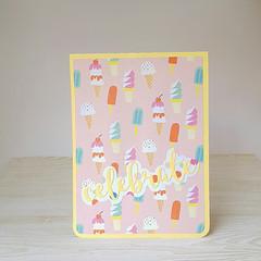 Celebrate Birthday Card, Ice Creams Card, Kids Birthday Card