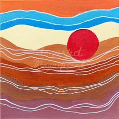 Printable Artwork 'Desert Sun' Digital Print