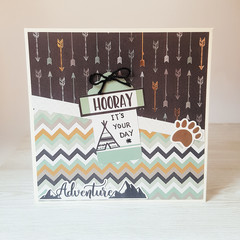Hooray It's Your Day, Adventure Card, Birthday Card, Boys Birthday Card