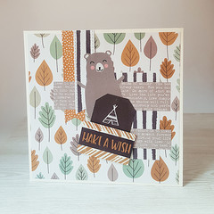 Make A Wish, Boys Birthday Card, Rustic Birthday Card, Woodland Card