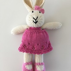 Amelia - Hand Knitted Bunny Rabbit Toy