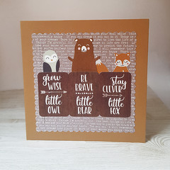 New Baby Card, Baby Boy Card, Woodland themed Card
