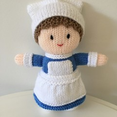 Nurse Lilly - Hand Knitted Doll
