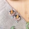 Boho Unique Custom Fantasy Polymer Clay Dangle Statement Earrings