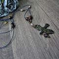Necklace - Nevermore art necklace, inspired by Edgar Allan Poe The Raven