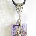 Resin  Pendant ...Always Beautiful Violet & Pearl