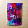 Happy Birthday Greeting Card, Pink, Purple, Blue and Gold Foil