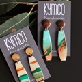 River Gum Collection dangle earrings - long