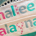 LIMITED EDITION: Pale Pink textured Personalised / Name Towel - Only 1 left!