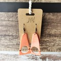 Geometric Minimalist Polymer Clay Cutout Soft Triangle Dangle Statement Earrings
