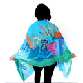 Quirky Cat Scarf, Crazy Cat Lady Gift, colourful women's scarf