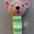 crocheted baby rattle