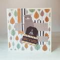 Make A Wish, Boys Birthday Card, Rustic Birthday Card, Woodland Card