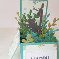 Happy Birthday Card, Koalas, Pop Up Box Card