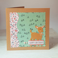Girls Birthday Card, Happy Birthday Little Deer, Woodland Themed Greeting Card