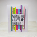Wishing You A Happy Birthday - Birthday Card - Rainbow Coloured Card