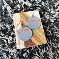 Geometric Minimalist Polymer Clay Large Circle Dangle Statement Earrings