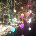 Colourful felt Baby mobile Balls and flowers