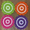 Bright Crochet Coasters - Set of 4