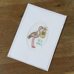 New Baby - Stork