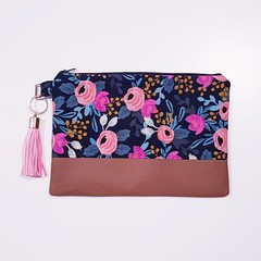 Cotton and Steel Black floral clutch bag for women