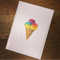 Multi Ice Cream Cone Card