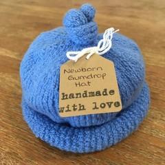 Newborn Gumdrop Beanie - Blue