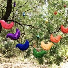 Rainbow birds Felt Mobile
