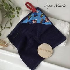 """""""SUPER MARIO""""      BATH WASHERS // MINI HAND TOWEL"""