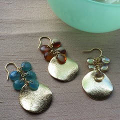Circle bead earrings