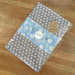 Fabric Covered Journal - Grey/Blue