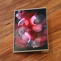 Hand made original art alcohol ink cards