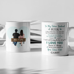 Love Couples Husband Wife Personalised Ceramic Coffee Tea Mug Cup - CM044