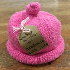 Newborn Gumdrop Beanie - Bright Pink