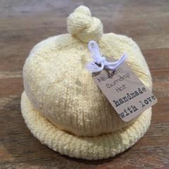 Newborn Gumdrop Beanie - Pale Yellow