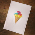 Multi Ice Cream Cone Card