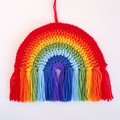 Rainbow, crochet rainbow decoration, rainbow wall hanging