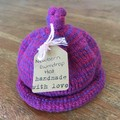 Newborn Gumdrop Beanie - Pink/Purple Striped