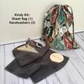 """""""CARS"""" KINDY KIT - Drawstring Bag & Mini Hand Towel set of 3"""