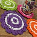 Bright Crochet Coasters - Set of 4