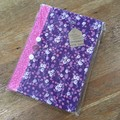 Fabric Covered Journal - Purple/Pink