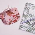 Pink wattle print make up coin purse